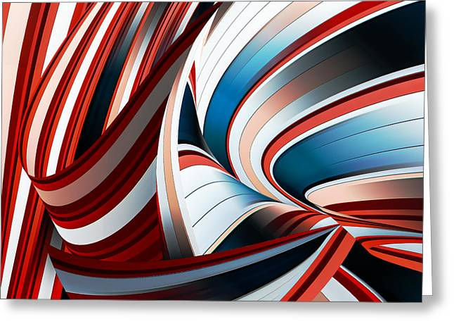 Passione Annodata Greeting Card by Gilbert Claes