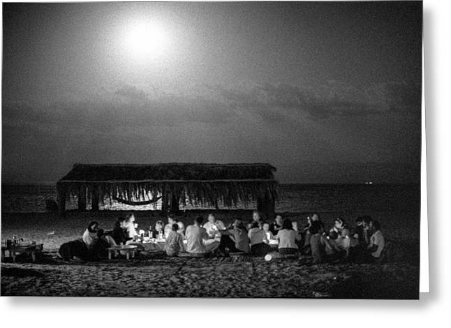 Passover Night In Sinai By Moonlight Greeting Card by Dubi Roman
