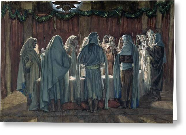 Observing Greeting Cards - Passover Greeting Card by Tissot