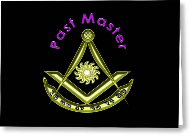 Past Master In Black Greeting Card