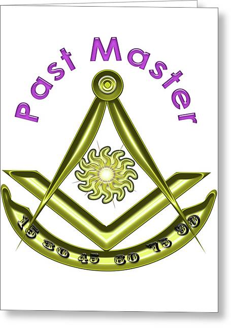 Past Master In White Greeting Card