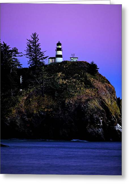 Greeting Card featuring the photograph Past Sunset At Cape Disappointment by Mary Jo Allen