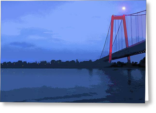 Past The Bridge Greeting Card