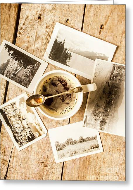 Past Time Tea Greeting Card
