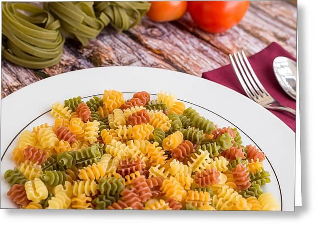 Pasta Dinner #1 Greeting Card by Jon Manjeot