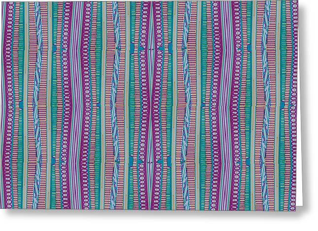 Pasta Night Greeting Card by Modern Metro Patterns and Textiles