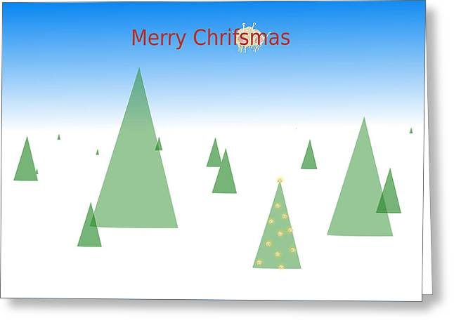 Pastafarian Greeting - Merry Chrifsmas Greeting Card by Richard Reeve