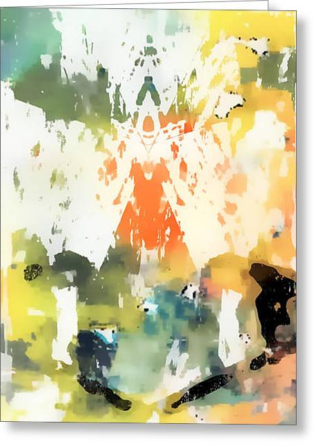 Pastel Abstract Greeting Card by Tom Gowanlock