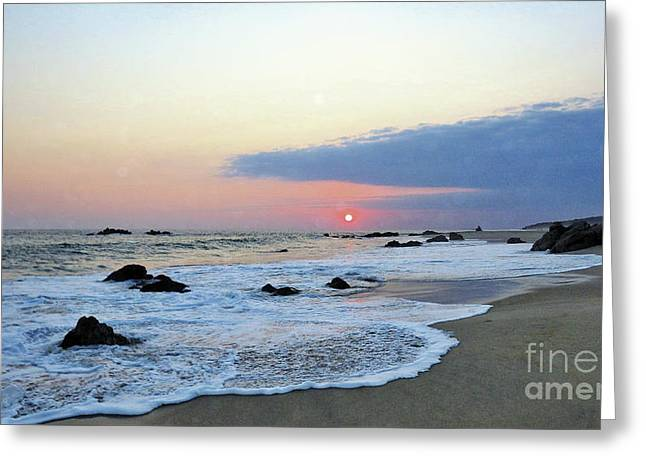 Greeting Card featuring the photograph Pastel Blue by Victor K