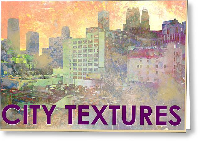 Pastel City Textures Greeting Card