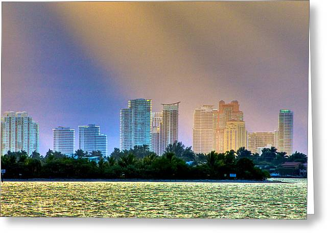 Pastel City Greeting Card by William Wetmore