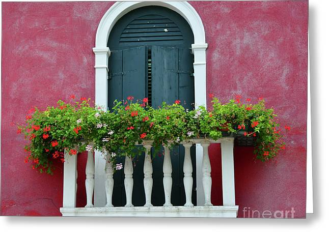 Pastel Colors Of Burano  Greeting Card