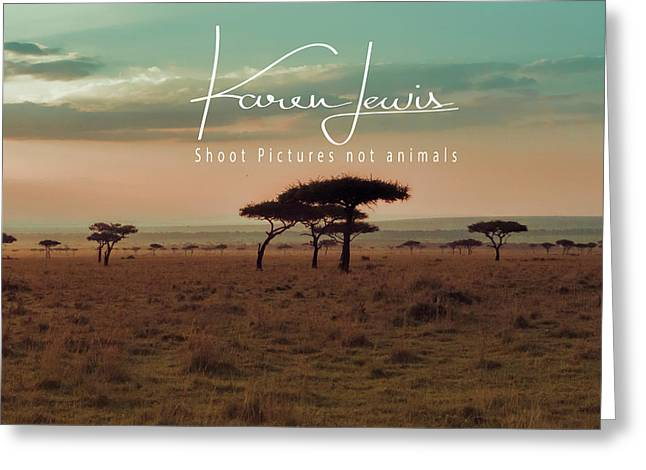 Greeting Card featuring the photograph Pastel Dawn On The Mara by Karen Lewis