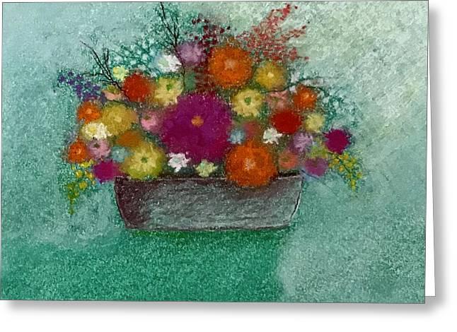 Pastel Flowers Greeting Card by Harvey Rogosin