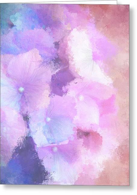 Pastel Hydrangea Greeting Card