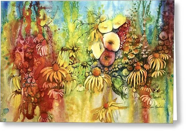 Pastel Jungle Greeting Card by Shirley Sykes Bracken