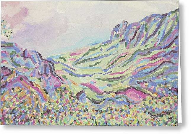 Pastel Landscape Greeting Card by Suzanne  Marie Leclair