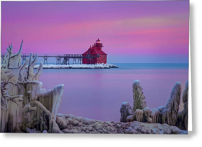 Pastel Lighthouse Greeting Card