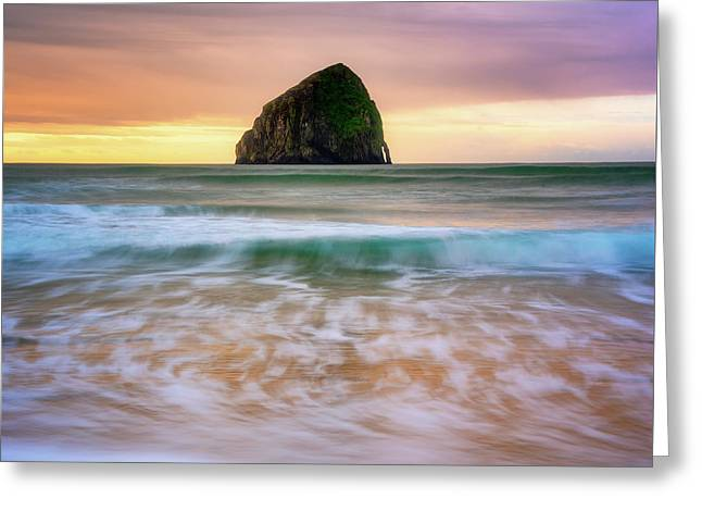 Greeting Card featuring the photograph Pastel Morning At Kiwanda by Darren White