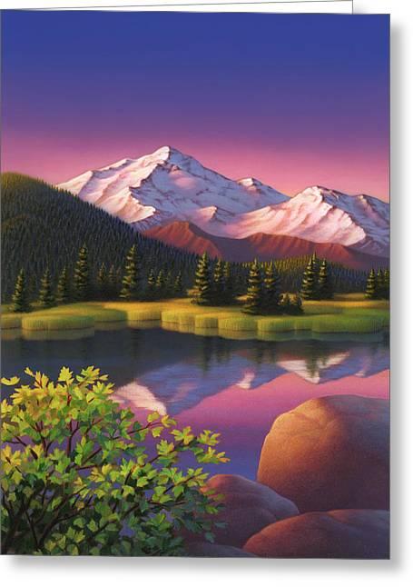 Pastel Mountain Greeting Card
