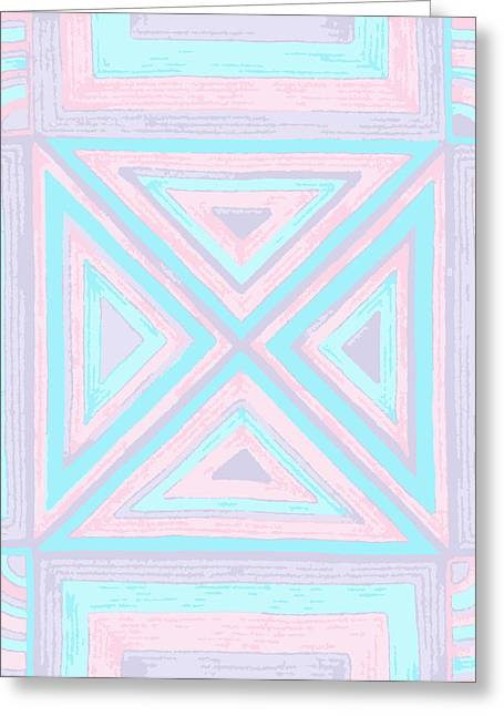 Pastel Patchwork Greeting Card