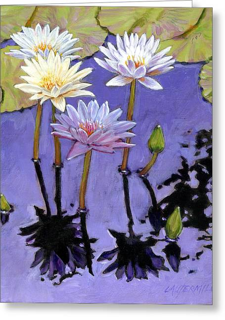 Pastel Petals Greeting Card by John Lautermilch