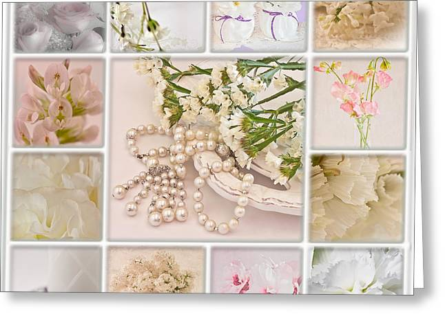 Pastel Photo Collage  Greeting Card by Sandra Foster