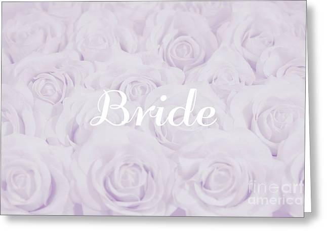 Pastel Purple Bride Greeting Card by Lucid Mood