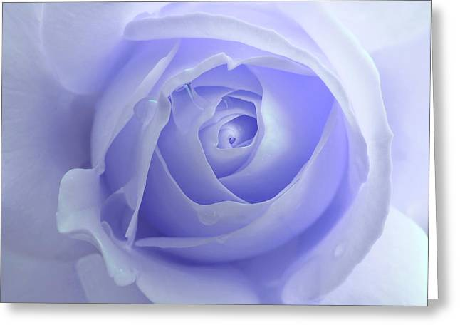 Rose Portrait Greeting Cards - Pastel Purple Rose Flower Greeting Card by Jennie Marie Schell
