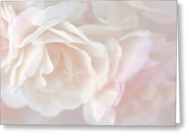 Pastel Rose Flowers Greeting Card