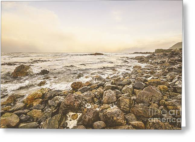 Pastel Sea Landscape Greeting Card