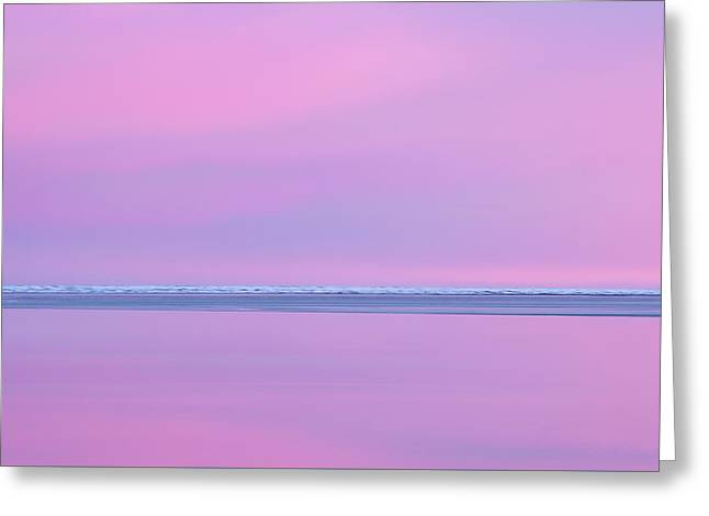 Pastel Shades Of An Icelandic  Winter Sunset. Greeting Card