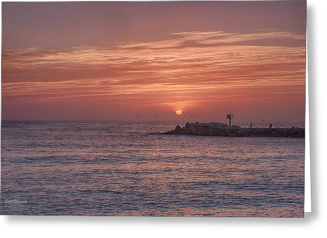 Pastel Sky Greeting Card by Bill Roberts
