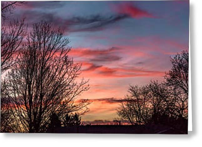 Pastel Sunrise Greeting Card