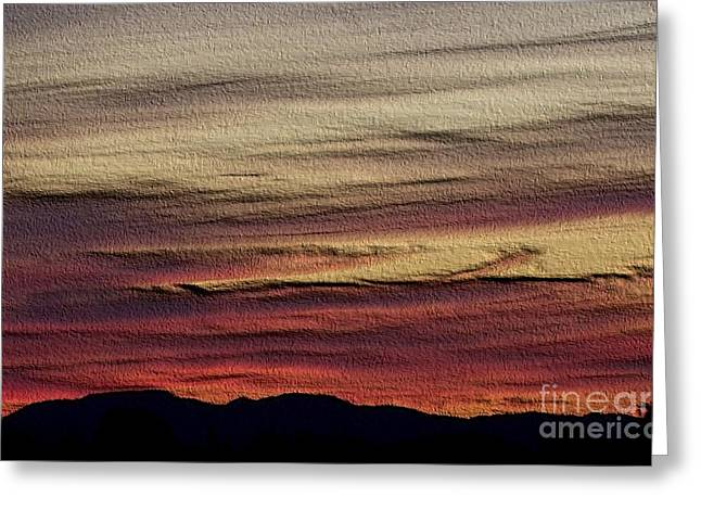 Pastel Sunset - Embossed Greeting Card by Erica Hanel