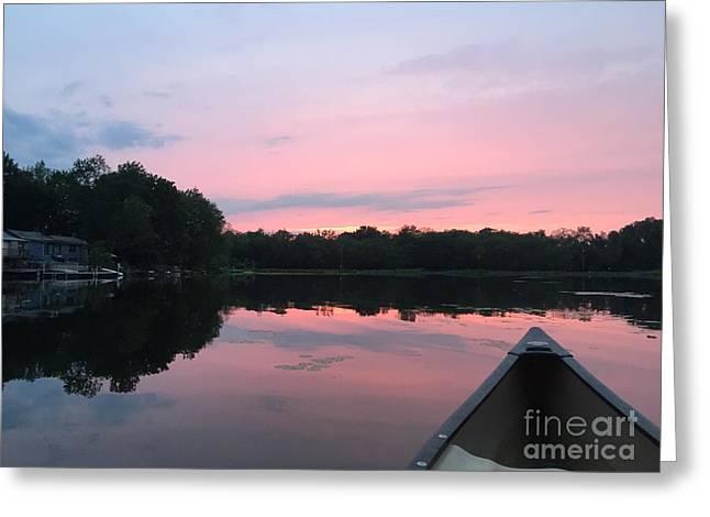 Pastel Sunset Greeting Card by Jason Nicholas