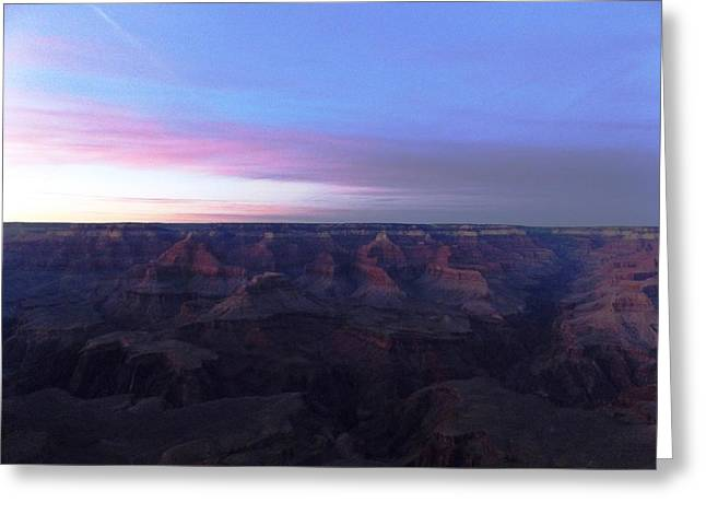 Pastel Sunset Over Grand Canyon Greeting Card