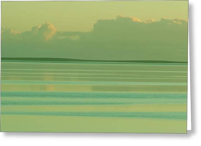Pastel Sunset Sea Green Greeting Card