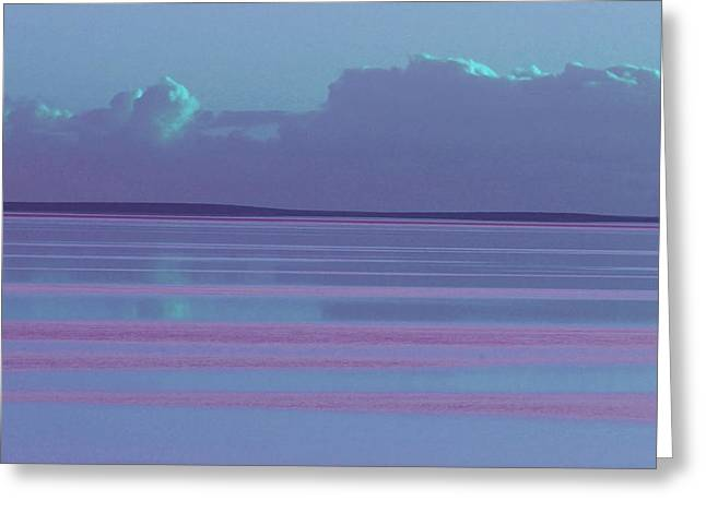 Pastel Sunset Sea Lilac Greeting Card
