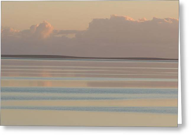 Pastel Sunset Sea Original Greeting Card