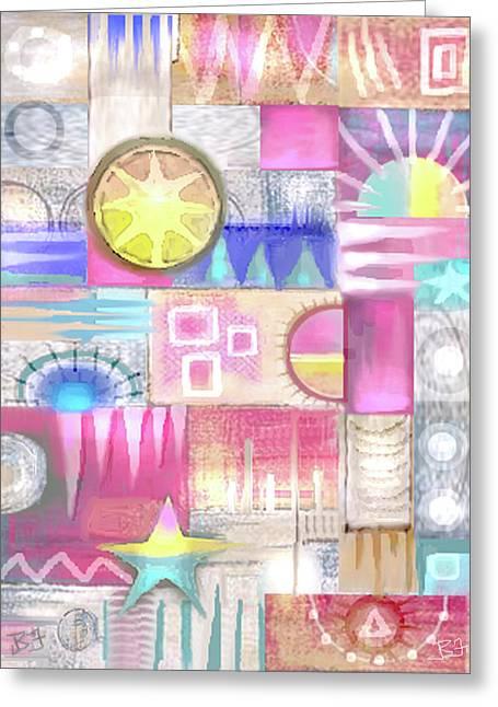Pastel Symmetry Greeting Card