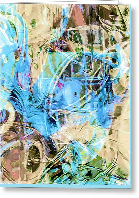 Pastel Tones Abstract Greeting Card by Tom Gowanlock