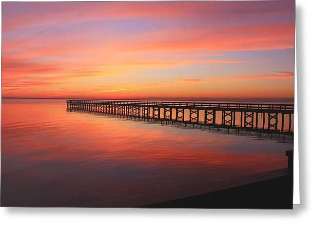 Pastels At The Hilton Fishing Pier  Greeting Card