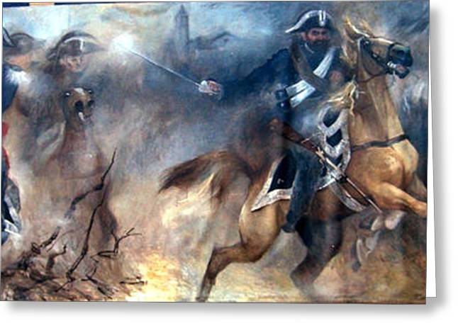 Pastrengo - The Charge II Greeting Card by Elisabeth Nussy Denzler von Botha