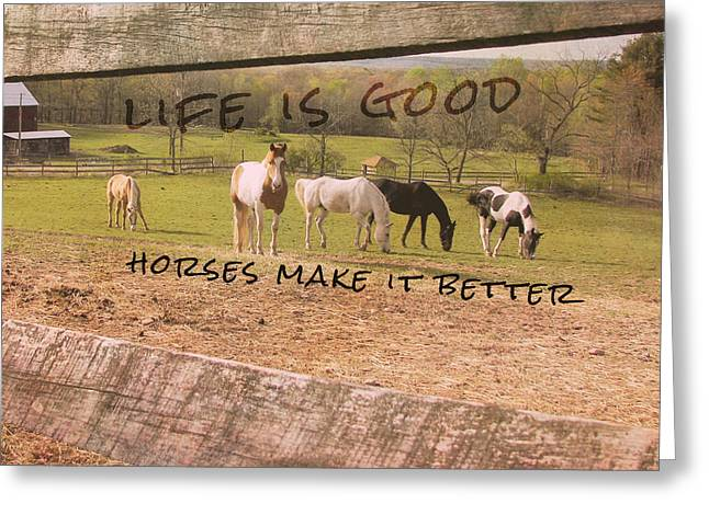 Pasture Friends Quote Greeting Card