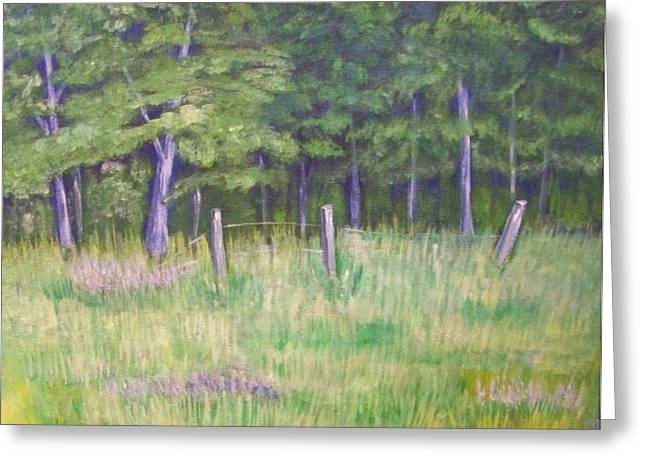 Greeting Card featuring the painting Pasture Paradise by Belinda Lawson
