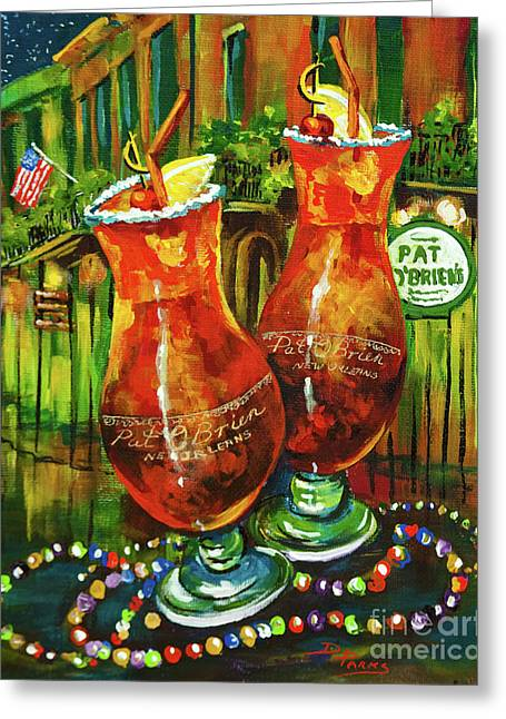 Pat O' Brien's Hurricanes Greeting Card by Dianne Parks