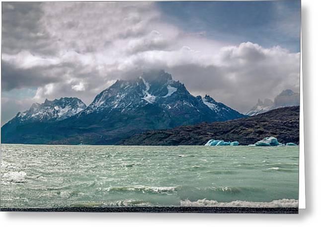 Patagonia Lake Greeting Card by Andrew Matwijec