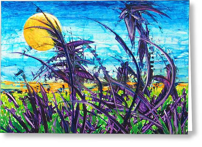 Patch Of Field Grass Greeting Card by Rollin Kocsis