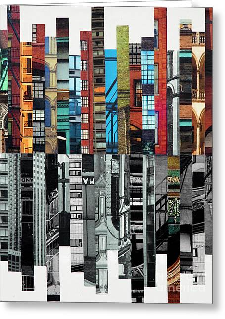 Patchwork City 72 Greeting Card